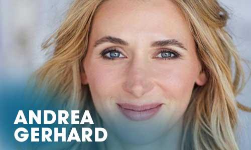 Die Schauspielerin Andrea Gerhard begann ihre Karriere als Schauspielerin und Moderatorin mit einer Ausbildung im Artrium.