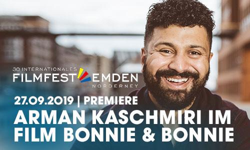 """artrium Absolvent Arman Kaschmiri  mit dem  Film """"Bonnie&Bonnie"""" auf dem 30. internationalen Filmfest Emden-Norderney."""