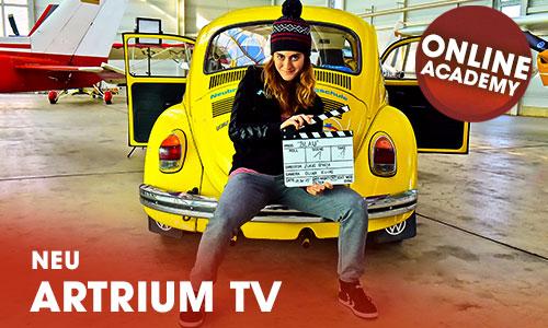 Kunstvolle Events Filme Showreels Interviews im eigenen Artrium Web TV Kanal