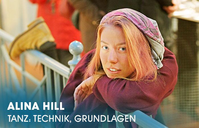 Die Dozentin Alina Hill lehrt an der Artrium Schauspielschule Hamburg das Fach Tanz ( Technik & Grundlagen)