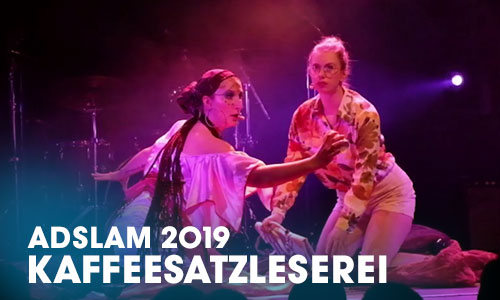 """Das Artrium, Schauspielschule Hamburg inszenierte drei Future-Theaterszenen als Showevent in Zusammenarbeit mit drei Autoren der """"School Of Ideas"""" in Hamburg."""